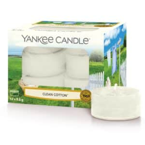Clean Cotton Yankee Candle - Candele Tea Light Profumate - Candlestore.eu