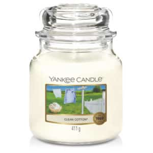 Clean Cotton Yankee Candle - Candele In Giara Media 411gr - Candlestore.eu