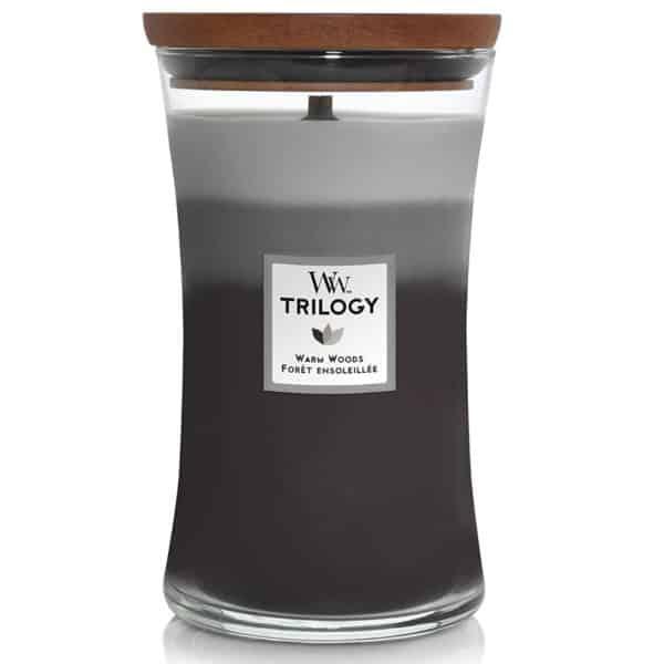 Warm Woods - Candele In Giara Grande Trilogy WoodWick Candles - Candlestore.eu