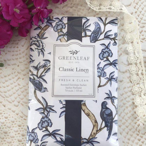 Greenleaf Classic Linen - Buste Profumate Grandi Per Armadi - Candlestore.eu