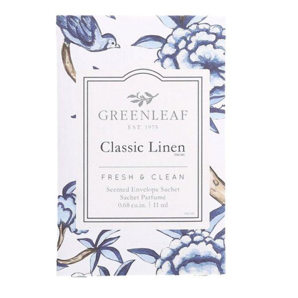 Greenleaf Classic Linen - Buste Profumate Mini Per Cassetti - Candlestrore.eu