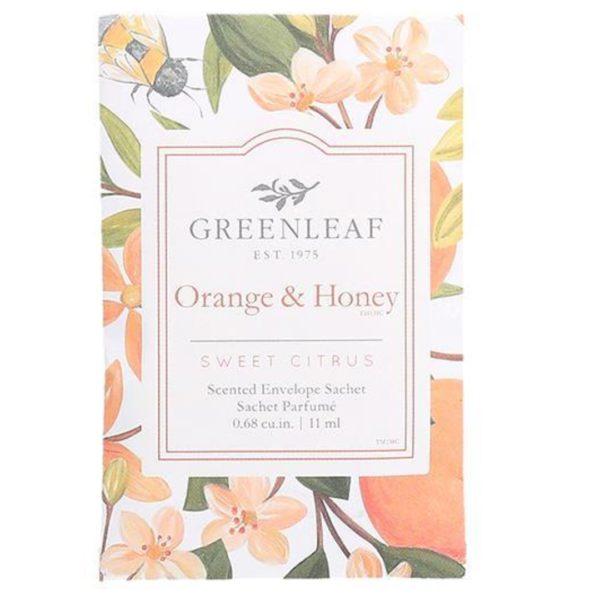 Greenleaf Orange & Honey - Buste Profumate Mini Per Cassetti - Candlestore.eu