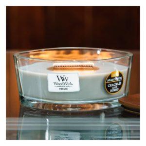 WoodWick Candles Fireside - Candele Profumate Formato Ellipse - Candlestore.eu
