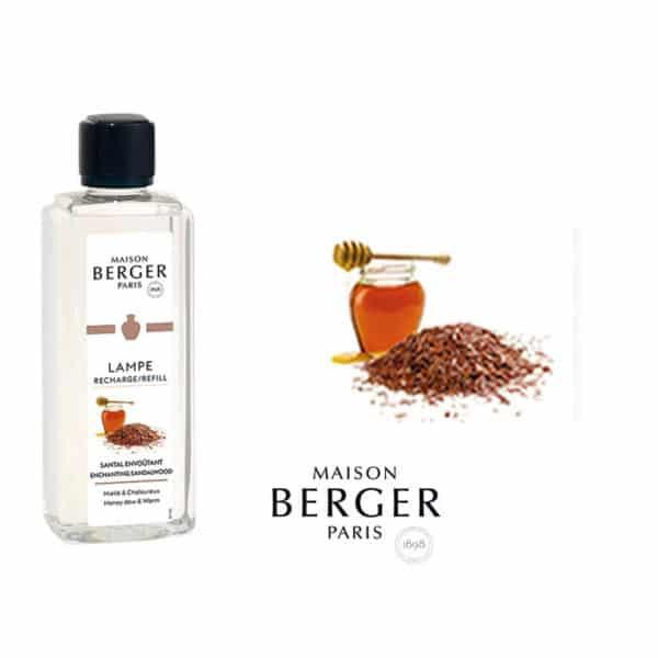 Lampe Berger - Incantevole Legno di Sandalo (Santal Envoutant) Flacone 500 ml - Candlestore.eu