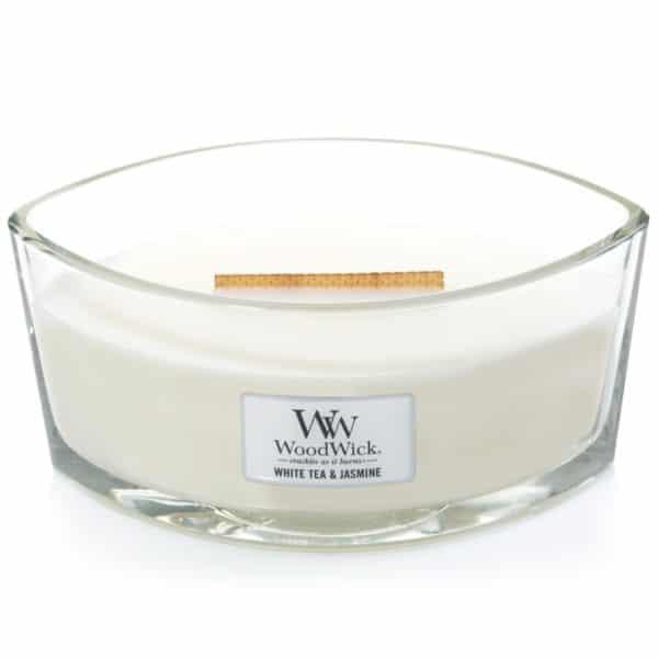 White Tea & Jasmine - Candele Ellipse WoodWick Candles - Candlestore.eu