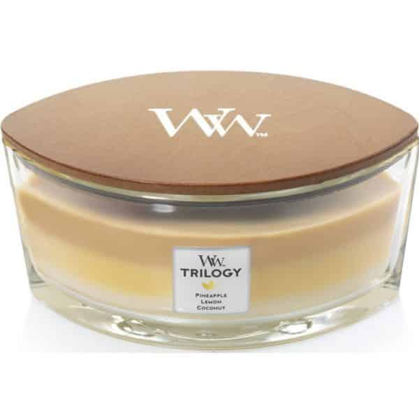 WoodWick Candles Fruits of Summer - Candela Trilogy Ellipse - Candlestore.eu