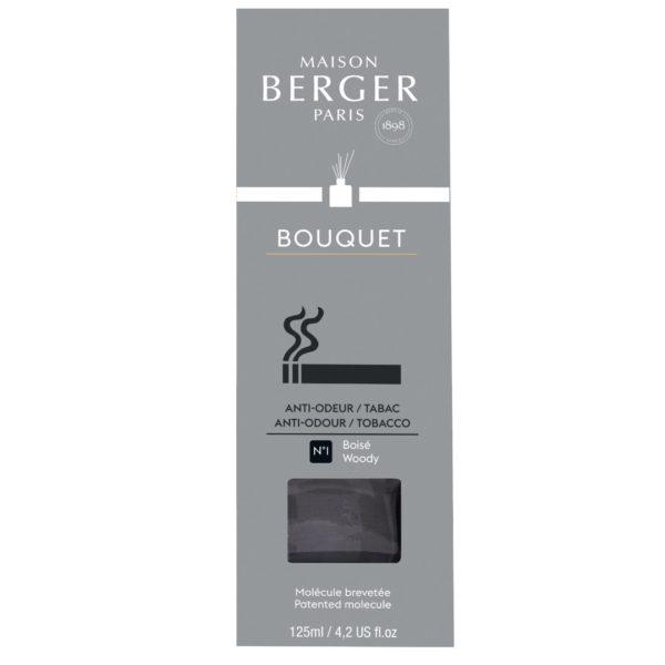 Maison Berger - Elimina Odori Tabacco - Diffusore a Bastoncini 125ml Profumo Legnoso - Candlestore.eu
