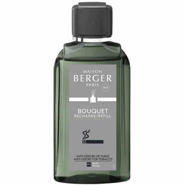 Maison Berger - Elimina Odori Tabacco - Ricarica 200 ml Diffusori a Bastoncini Profumo Legnoso - Candlestore.eu