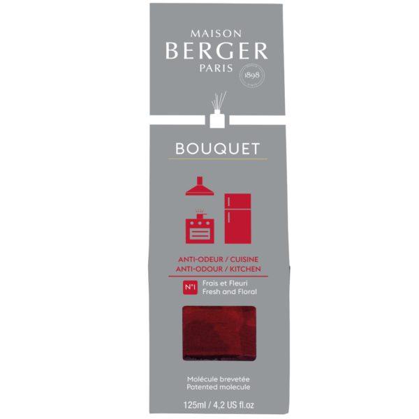 Maison Berger - Elimina Odori Cucina - Diffusore a Bastoncini 125ml Fresco e Fiorito - Candlestore.eu