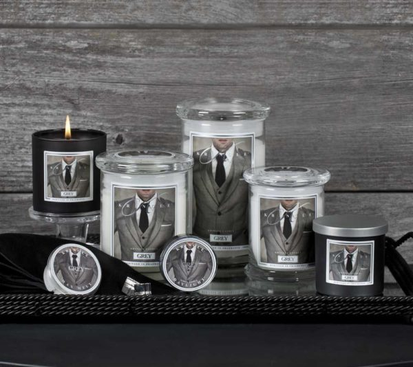 Grey - Candele in Giara Grande Kringle Candle - Candlestore.eu