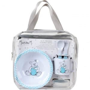 Mathilde M - Set Pappa Maschietto Oursons Amoreux Azzurro - Candlestore.eu