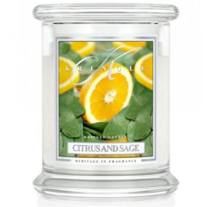 Citrus & Sage - Candele In Giara Piccola Kringle Candle - Candlestore.eu