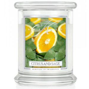 Citrus & Sage - Candele In Giara Piccola Kringle Candle - Candlestore.eu