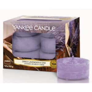 Yankee Candle Dried Lavender & Oak - Candele Tea Light - Candlestore.eu