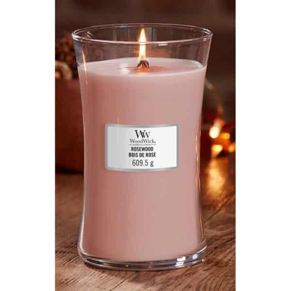 Rosewood - Candela Grande WoodWick Candles - Candlestore.eu