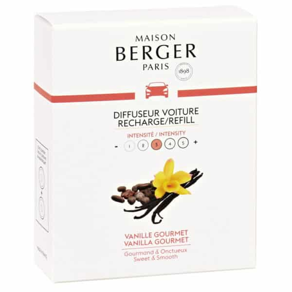 Maison Berger - Confezione 2 Ricariche Auto VANIGLIA GOURMET - Candlestore.eu