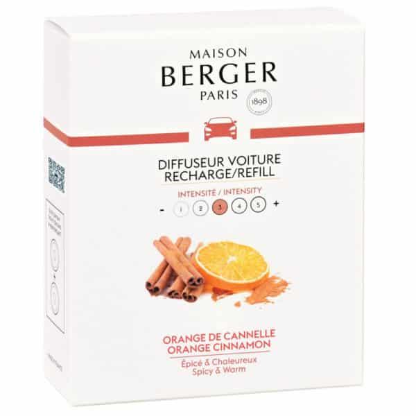 Maison Berger - Confezione 2 Ricariche Auto ARANCIA e CANNELLA (Orange de Cannelle) - Candlestore.eu