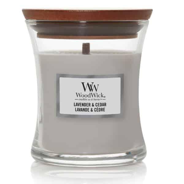 Lavender & Cedar - Candele In Giara Media WoodWick Candles - Candlestore.eu
