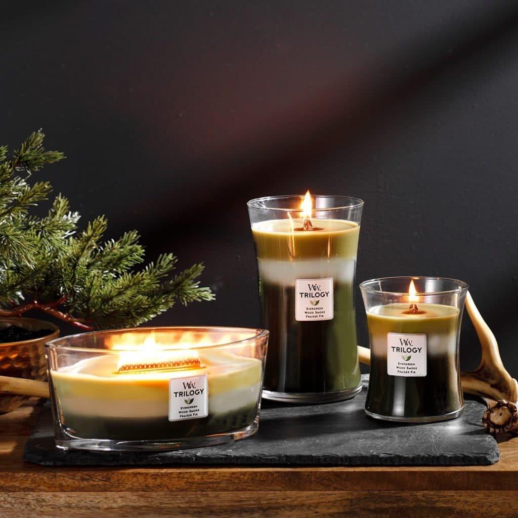 Candele Profumate Trilogy WoodWick Candle - Candlestore.eu
