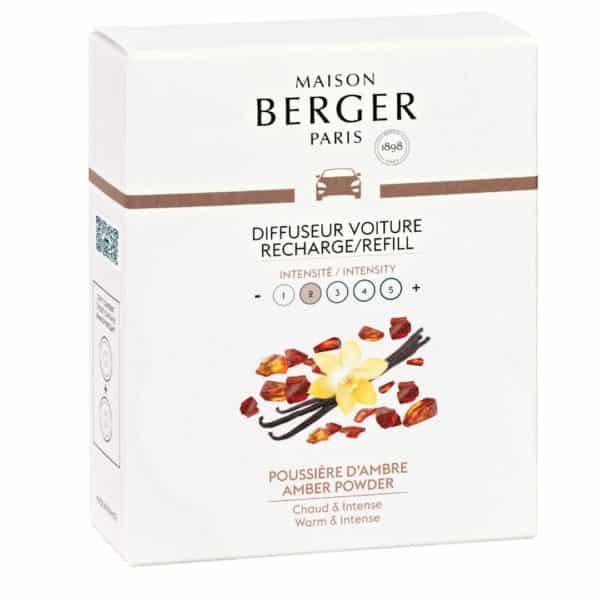 Maison Berger - Confezione 2 Ricariche Per Diffusore Auto Poussière d'Ambre - Candlestore.eu