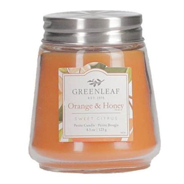 Greenleaf Orange & Honey - Candele Profumate Greenleaf 123gr - Candlestore.eu
