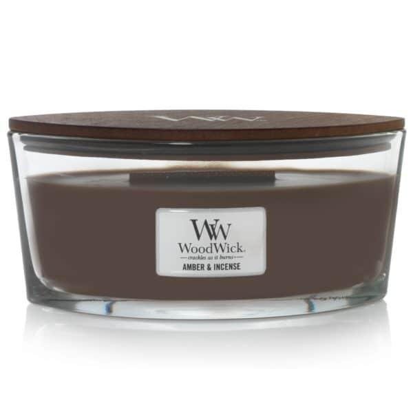Amber & Incense - Candele Ellipse WoodWick Candles - Candlestore.eu