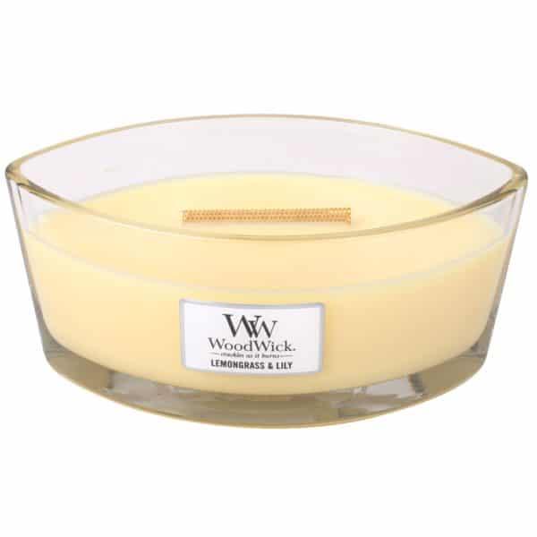 Lemongrass & Lily - Candele Ellipse WoodWick Candles - Candlestore.eu