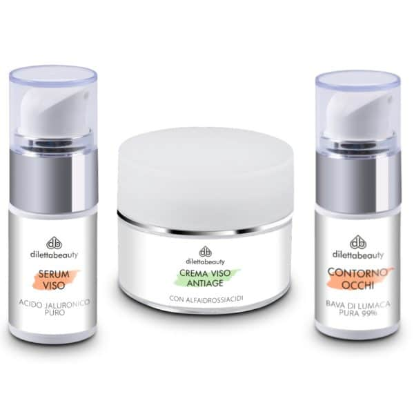 Set Promo Acido Jaluronico + Contorno Occhi + Crema Anti Age - Diletta Beauty