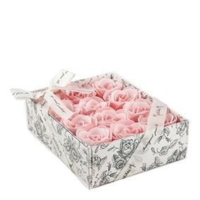 Confezione 12 Rose Di Sapone Profumate Colore Rosa - Mathilde M