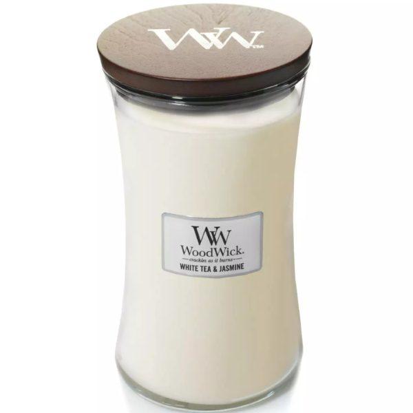 White Tea & Jasmine - Candele In Giara Grande WoodWick Candles - Candlestore.eu