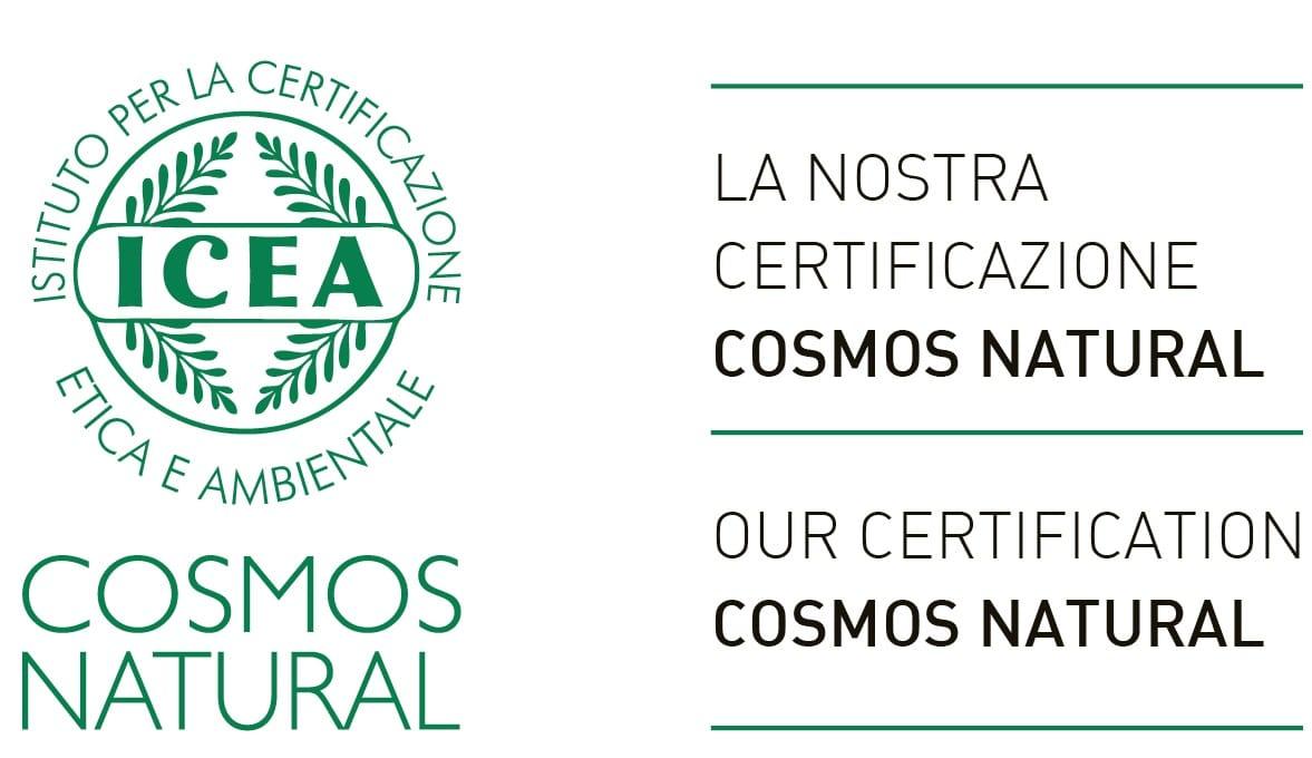 Certificazione ICEA COSMOS ECOCERT - Diletta Beauty