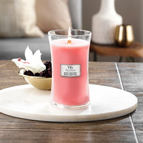 Melon & Pink Quartz - Candele In Giara Grande WoodWick Candles - Candle Store