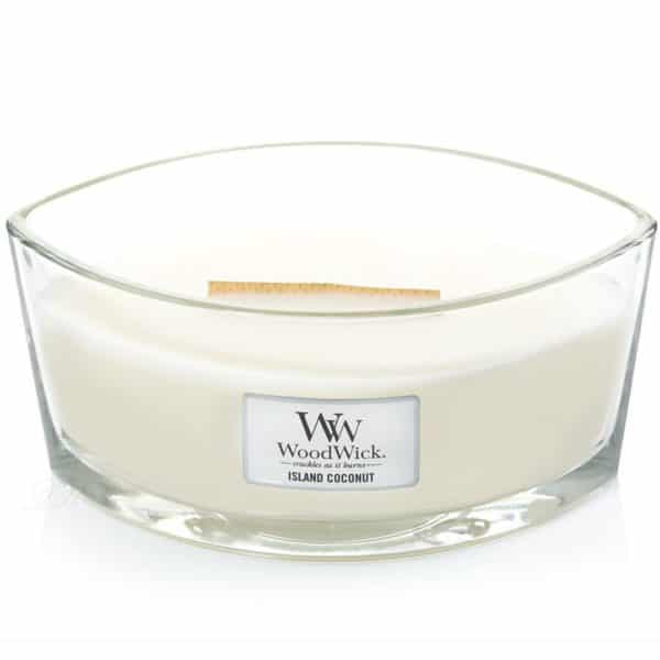 Island Coconut - Candele Ellipse WoodWick Candles - Candle Store