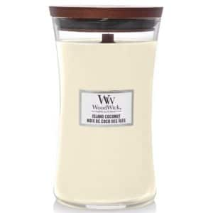 Island Coconut - Candele In Giara Grande WoodWick Candles - Candle Store
