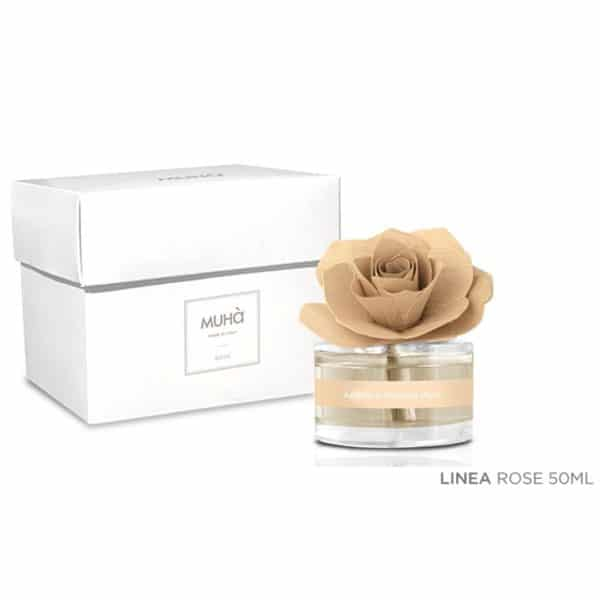 Vaniglia e Ambra Pura Muhà - Profumatore Ambiente Rosa 50ml Muhà - Candle Store