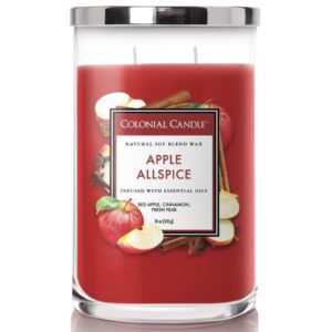 Colonial Candle Apple Allspice - Candela Profumata Grande 538gr 2 Stoppini Classic Cilinder - Candle Store