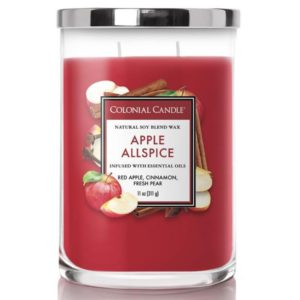 Colonial Candle Apple Allspice - Candela Profumata Media 311gr 2 Stoppini Classic Cilinder - Candle Store