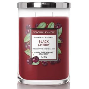 Colonial Candle Black Cherry - Candela Profumata Media 311gr 2 Stoppini Classic Cilinder - Candle Store