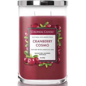 Colonial Candle Cranberry Cosmo - Candela Profumata Grande 538gr 2 Stoppini Classic Cilinder - Candle Store