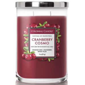Colonial Candle Cranberry Cosmo - Candela Profumata Media 311gr 2 Stoppini Classic Cilinder - Candle Store